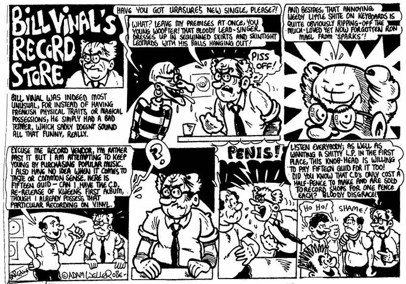 Comic strip adam