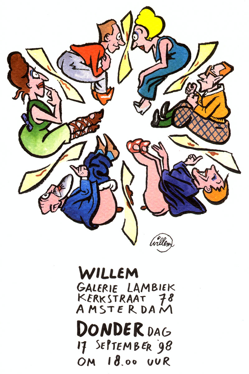 Willem exposition in Galerie Lambiek
