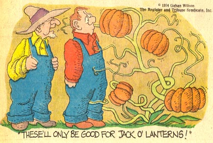 Halloween Jack o' Lantern cartoon by Gahan Wilson (1974)