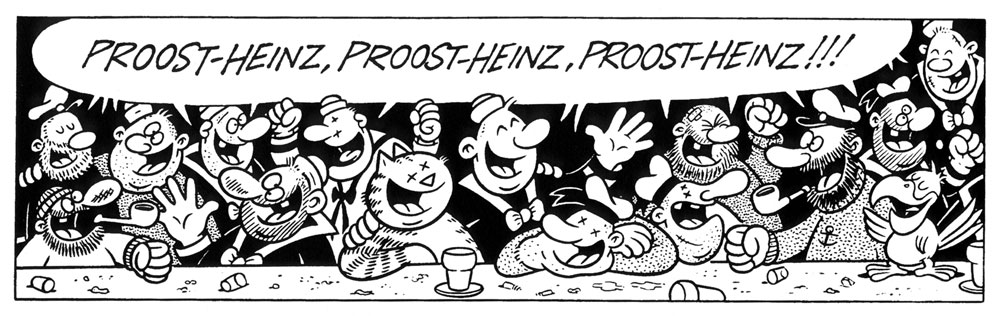 Proost, Heinz!, party invitation drawn by René Windig & Eddie de Jong