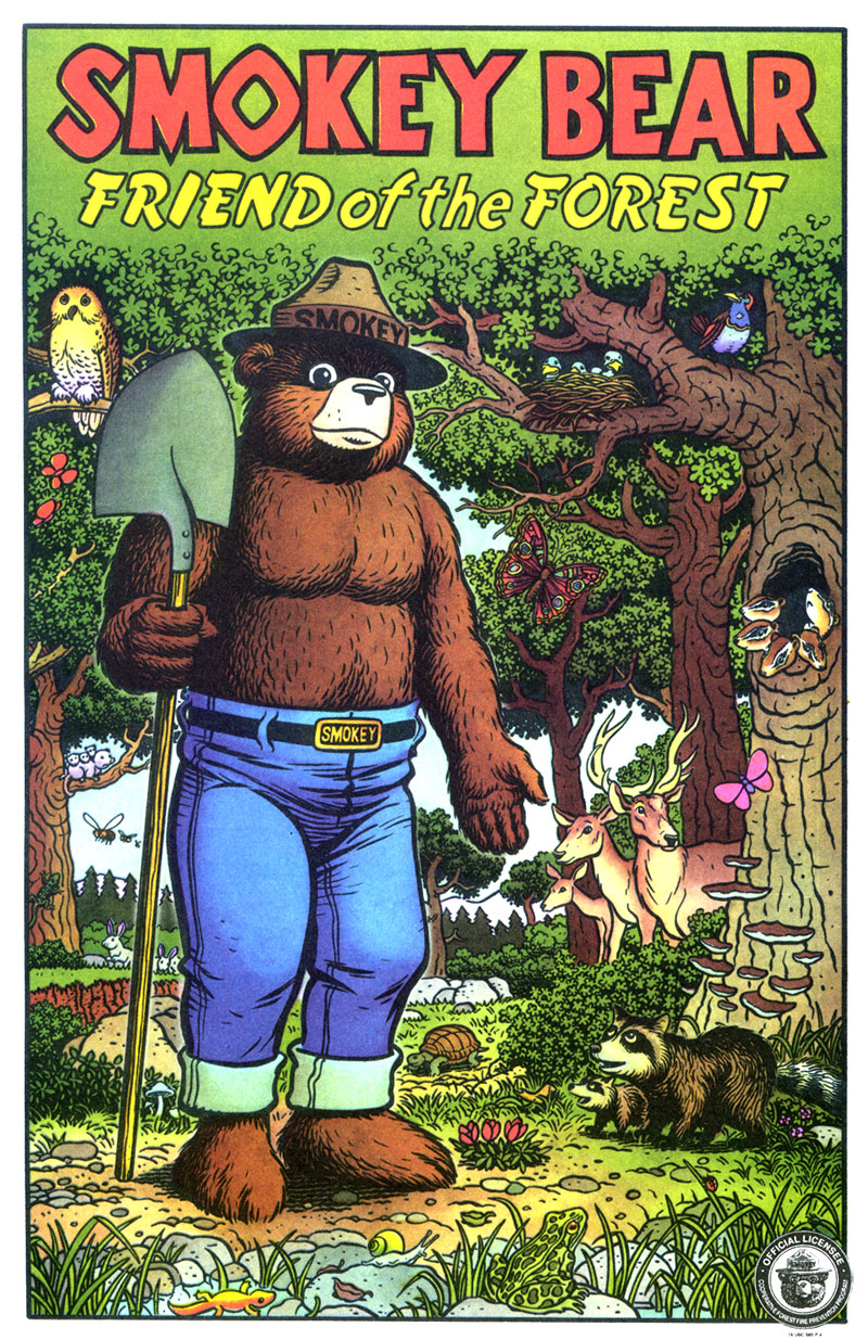 Smokey Bear, Friend of the Forest, art by Jim Woodring