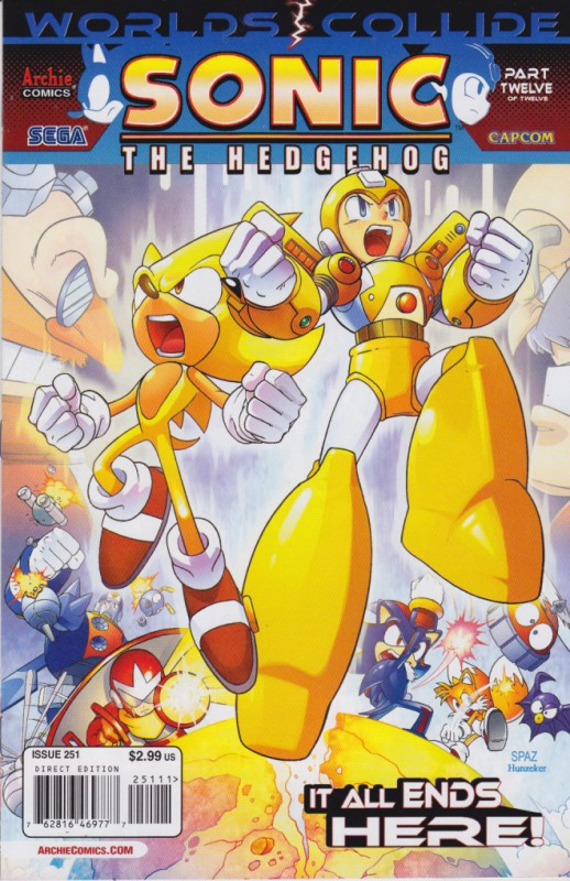 Sonic Amp Megaman Sonic The Hedgehog Worlds Collide Vol 12