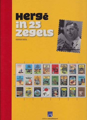 Hergé in 25 Zegels